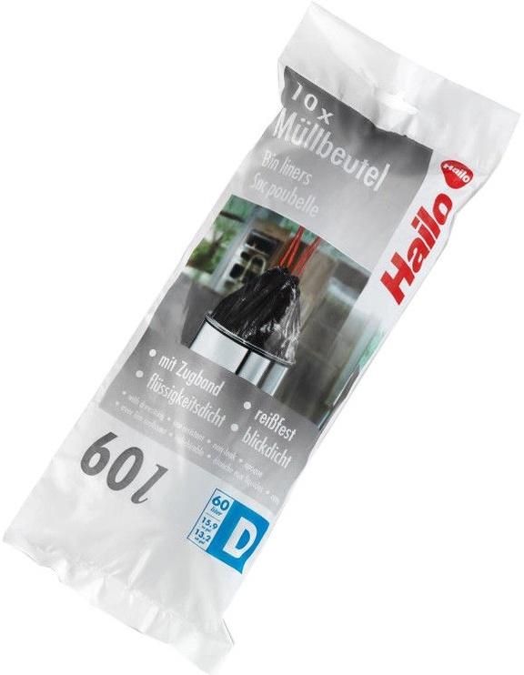Hailo Trashbags C 10pcs 60l Black