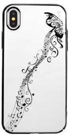 Devia Papillon Luxury Back Case For Apple iPhone XS Max Transparent/Black