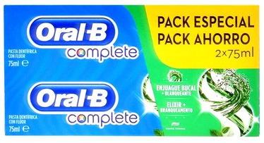 Oral-b Complete Dentifrico Rinse + Whitening Case 2 Pieces 75ml