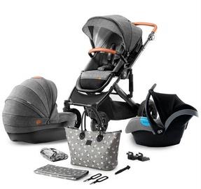 Универсальная коляска KinderKraft Prime 3in1, серый