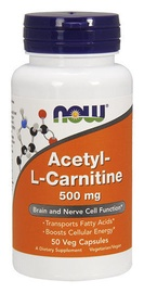 Now Foods Acetyl-L-Carnitine 500mg Veg Capsules