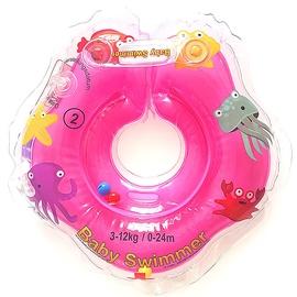 Надувное колесо Baby Swimmer Inflatable Neck Ring, розовый