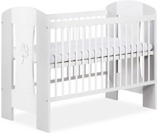 Bērnu gulta Klups Nati White/Gray, 125x66 cm