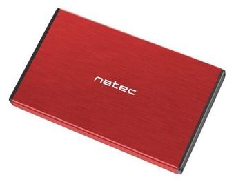 Natec External Enclosure for 2.5'' SATA USB 3.0 Red