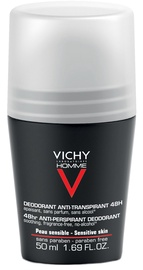 Дезодорант для мужчин Vichy Homme 48h Anti-Perspirant Roll On for Sensitive Skin, 50 мл
