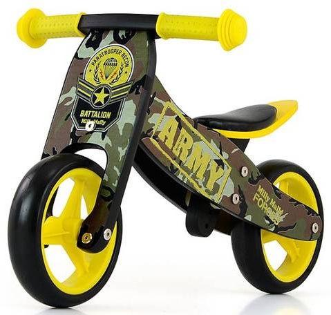 Балансирующий велосипед Milly Mally Jake 5901761123777, черный/желтый, 7″