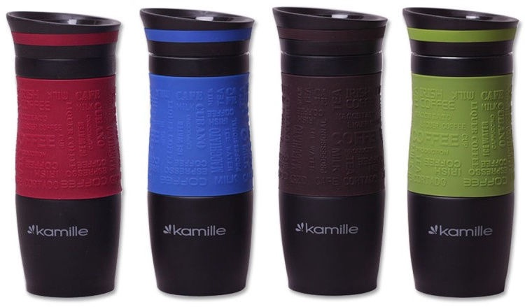Kamille Vacuum Mug 380ml Brown KM2069A