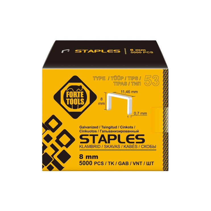 Forte Tools Staples T53 8mm
