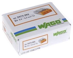 Wago 3 Wire terminal 3x0.5-2.5 100pcs
