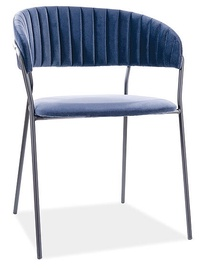 Ēdamistabas krēsls Signal Meble Lira B Velvet, zila