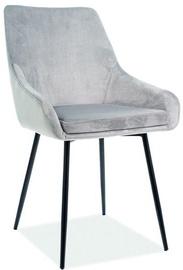 Ēdamistabas krēsls Signal Meble Albi Velvet Light Grey/Black, 1 gab.