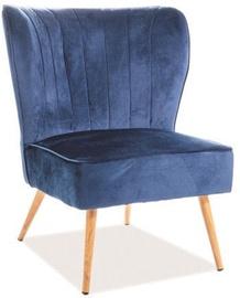 Ēdamistabas krēsls Signal Meble Legno Velvet Navy Blue/Oak