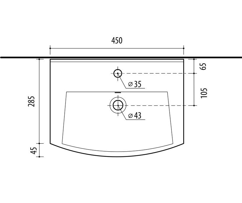 Skapītis ar izlietni Riva Sonoma SA45-18 Sonoma Oak