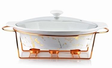 Mondex Elegant Kitchen Ceramic Pot With Heater White Marble