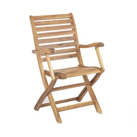 Home4you Cherry Garden Chair w/ Armrests Brown
