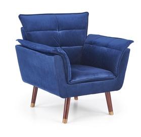 Atzveltnes krēsls Halmar Rezzo Blue, 73x80x84 cm