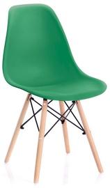 Ēdamistabas krēsls Homede Margot Chairs 4pcs Dark Green
