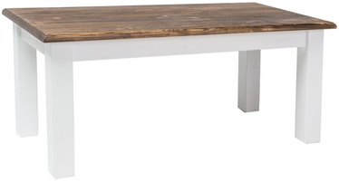Kafijas galdiņš Signal Meble Poprad Brown/White, 1200x520x600 mm