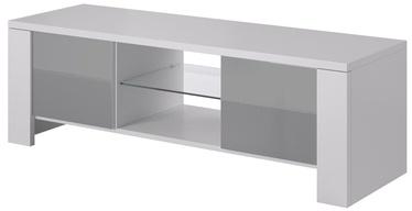 ТВ стол Cama Meble West, белый/серый, 1300x420x420 мм