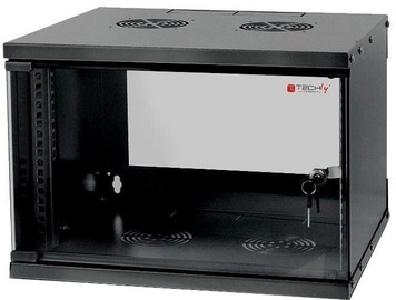 "Techly Wall Rack Cabinet 19"" 6U D450 Black Assembled"