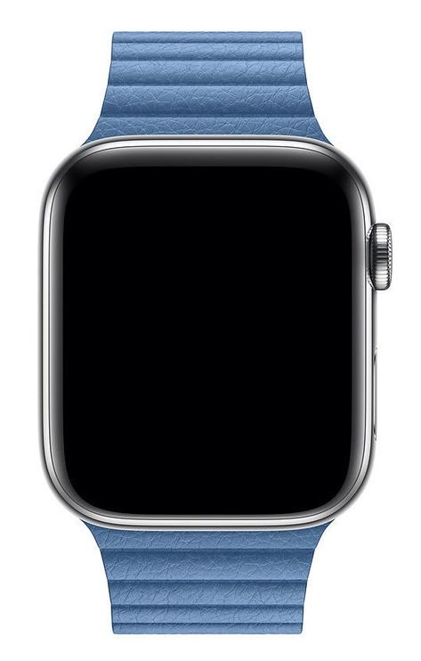 Apple 44mm Watch Band Cornflower Leather Loop Medium