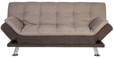 Диван-кровать Home4you Roxy 11685, коричневый/кремовый, 189 x 88 x 91 см
