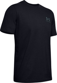 Under Armour Mens Sportstyle LC Back T-Shirt 1347880-001 Black XL