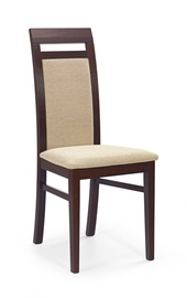 Ēdamistabas krēsls Halmar Albert Dark Walnut/Torent Beige