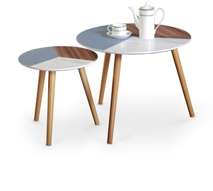 Kafijas galdiņš Halmar Multi Multicolored, 600x600x480 mm