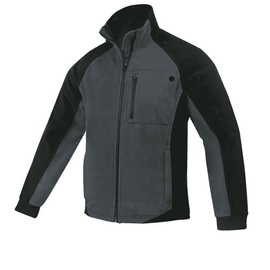 Fleece Work Jacket Black/Grey M