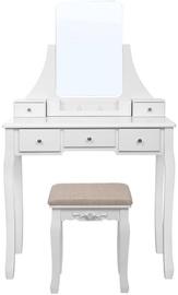 Songmics Vanity Table White/Beige 80x40x137.5cm