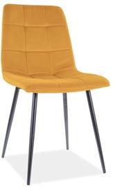 Ēdamistabas krēsls Signal Meble Mila Velvet 48, dzeltena