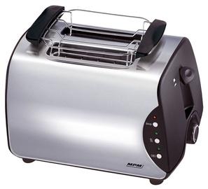 Tosteris MPM BH-8863, melna/nerūsējošā tērauda