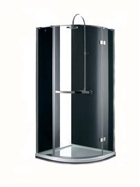 Dušas kabīne Masterjero Novito QF309, pusapaļā, bez paliktņa, 900x900x1900 mm