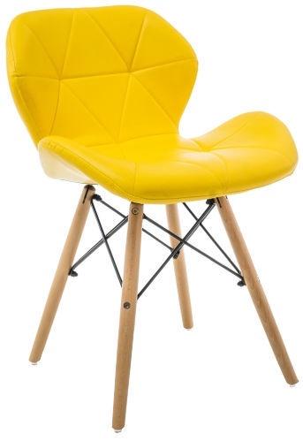 Ēdamistabas krēsls Signal Meble Matias Yellow, 1 gab.