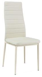 Ēdamistabas krēsls Signal Meble Bis H261 Cream/Cream