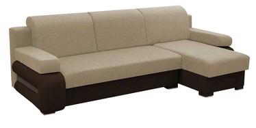 Stūra dīvāns Idzczak Meble Grey Beige/Brown, 260 x 140 x 72 cm