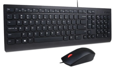 Lenovo Essential Wired Keyboard And Mouse Combo ENG Black