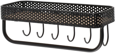 4Living Ziggy Wall Shelf 30x12x11cm Black