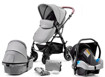 Коляска KinderKraft Moov 3 in 1 Grey