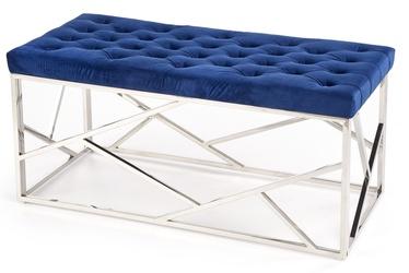 Pufs Halmar Milagro Dark Blue/Silver, 98x44x47 cm