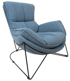 Кресло Home4you Diva 39046, синий/черный, 96 см x 88 см x 84 см