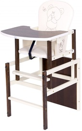 Drewex Feeding Chair Antos Bear & Butterfly Dark Walnut/Ecru