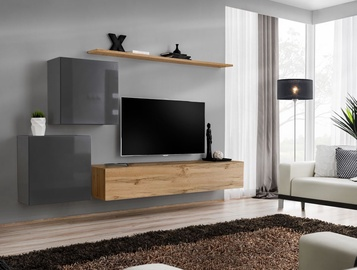 ASM Switch V Wall Unit Graphite/Wotan Oak