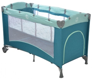 Britton Siesta Travel Cot Ocean Green B2468