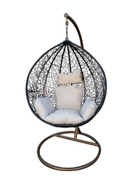 Садовое кресло подвесной Domoletti Cone AK992, золотой/белый/черный