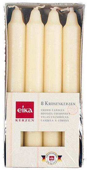 Eika Crown Candles Champagne 8pcs