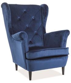 Atzveltnes krēsls Signal Meble Lady Velvet Navy Blue, 75x85x101 cm