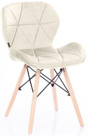 Ēdamistabas krēsls Homede Silla Velvet Foggy, 4 gab.