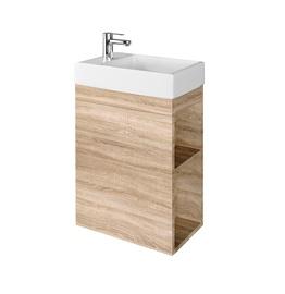 Шкаф для ванной Domoletti, дубовый, 22 x 40.5 см x 64 см